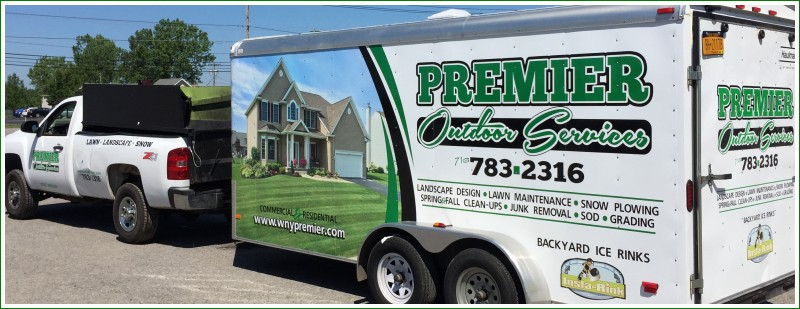 Premier Outdoor Services Truck and Trailer